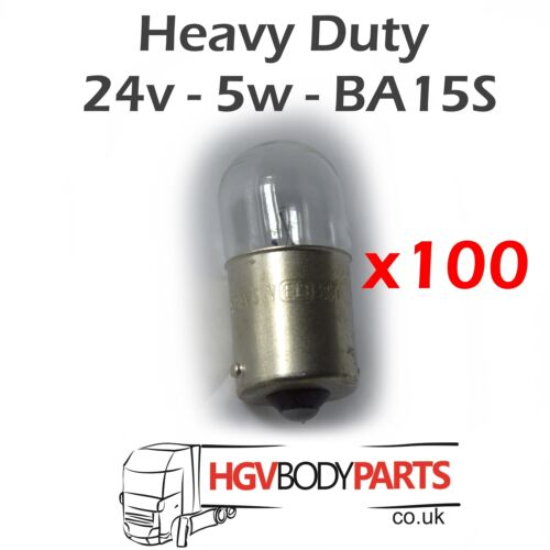 24v 5W Bulbs R5W T16 291 BA15S x100 for Commercial Vehicles