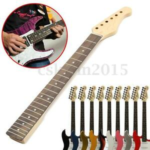 Electric-Guitar-Neck-Solid-Wooden-Fingerboard-For-22-Fret-ST-Part-Replacement