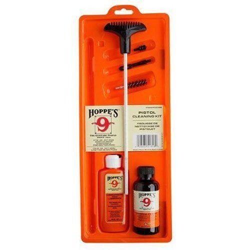 Hoppes 9mm .357 .380 & .38 Pistol Cleaning Kit Gun Cleaner, Rod, Lube, Brush