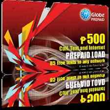 Globe Load P500 With 85 Free Texts To Globe |SUN | SMART Valid For 120 Days