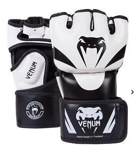 Venum-Attack-Mma-Kampf-Handschuhe-Weiss-Kampfsport-Sparring-Training-Handschuhe