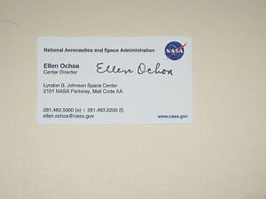 Nasa astronaut ellen ochoa signed business card autograph ebay image is loading nasa astronaut ellen ochoa signed business card autograph colourmoves