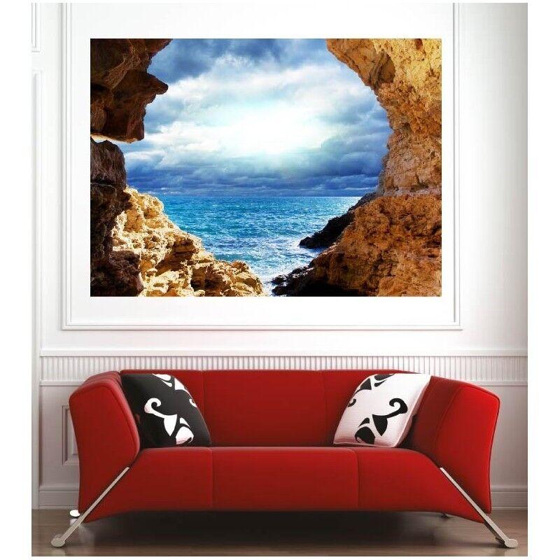 Plakat Plakat Felsen Aussicht auf das Meer 51899875