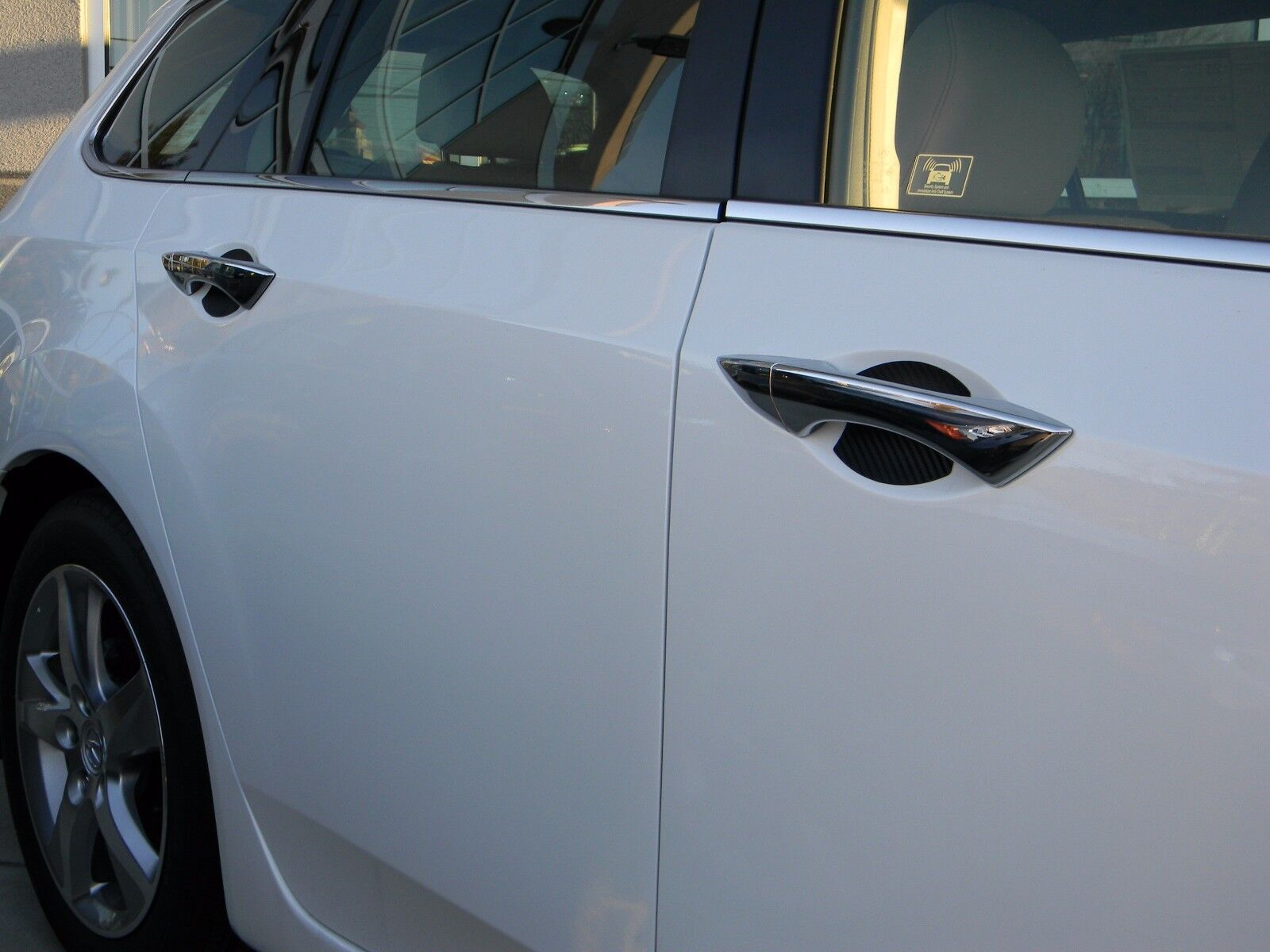 Set of 4X Recessed Door Handle Film Protector Stickers kwmobile TPU Cover for Car Door Handle Matte Transparent