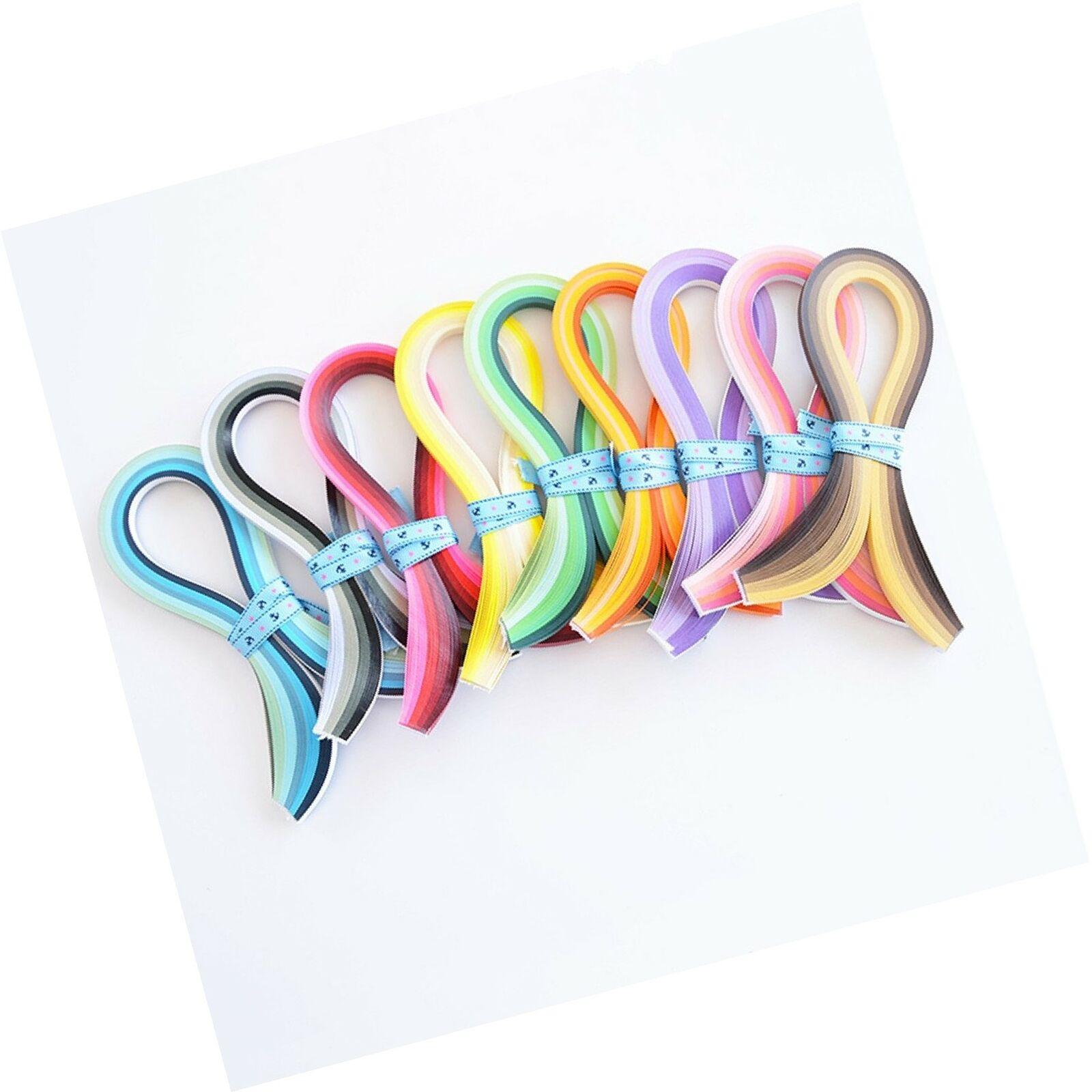 Quilling Paper Set 900 PCS Strips 3mm Width 39cm Length 9 Kinds Gradient Colors
