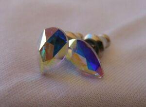 HYPOALLERGENIC-Stud-Earrings-Swarovski-Elements-Crystal-in-Aurora-Borealis-AB