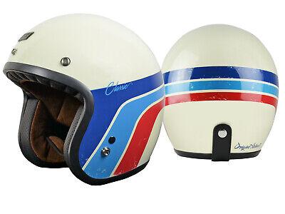 59//60 Origine Vega Classic Helm Wei/ß//Blau//Rot L