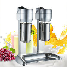 Milk Shake Machine Double Head Drink Mixer Stainless Steel 300w Commercial Usa