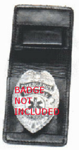 Hwc Cas-1 Magnetic Leather Police Fire// Priv Invest Badge Holder
