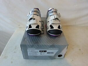 Giro Manta Women's Shoes 37.5 US 6.25 White/Silver/Plum