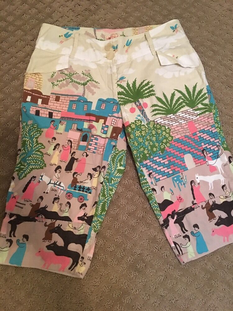 Anthropologie Rare Tracy Reese Bizarre Walking Shorts 2 Very Good Condition