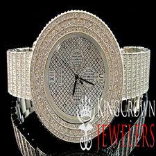 Iced Out Mens Techno JoJino/JoJo /Joe Rodeo 3 Row Bezel 10 Row Custom Band Watch