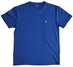 ralph lauren uomo t shirt  Mens T-Shirt Top Polo RALPH LAUREN Polo Man Electric BLUE Small Pony ...