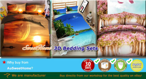 Easeful Tiger 3D Printing Duvet Quilt Doona Covers Pillow Case Bedding Sets