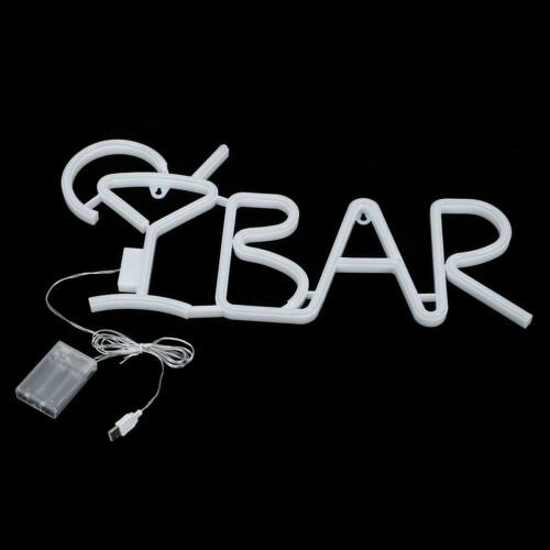 DIY BAR Letters Shaped LED Neon Light Shop Signs Light for Party Bar Home Decor