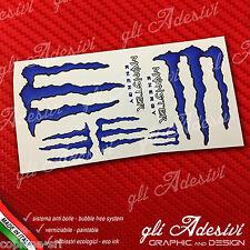 7 Adesivi Drink Energy BLU Blu scuro Sticker vari formati