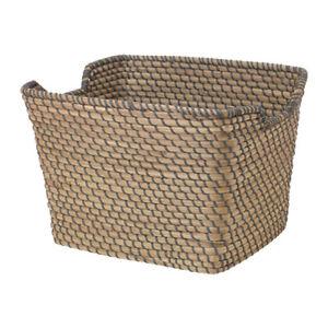 Image Is Loading Amazing IKEA HAND WOVEN Basket ASUNDEN Dark Grey