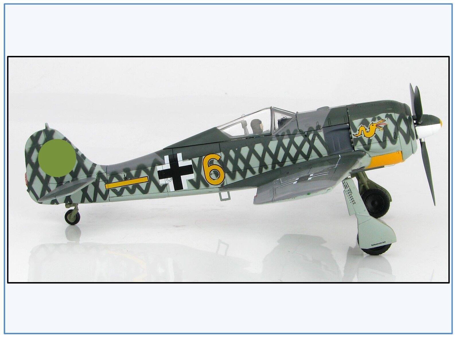 Ha7423 fw-190a-4 6. JG 1, 6 gialle, Holland, OTT 1942, HOBBYMASTER 1 48,neu 10 18 &