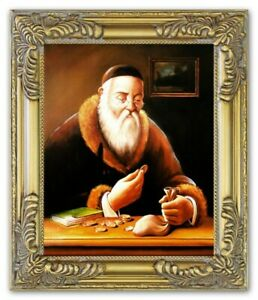 Oil-Painting-Pictures-Hand-Painted-with-Frame-Baroque-Art-G17814