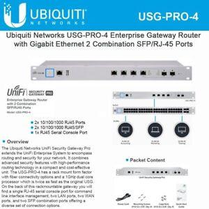 Details about Ubiquiti Networks USG-PRO-4-US Enterprise Gateway Router with  Gigabit Ethernet