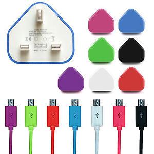 Chargeur-Secteur-Mural-Uk-amp-MICRO-USB-Donnees-Charge-Sync-cables-pour-les-peripheriques-mobiles