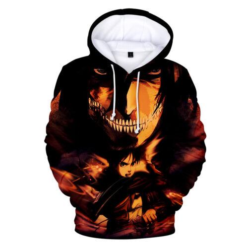 Anime Attack on Titan Shingeki no Kyojin Hoodie Sweatshirt Coat Jacket 9 Size