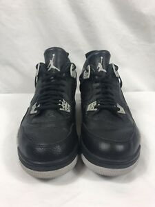 a5238ea2c4a890 Nike Men s Air Jordan 4 Retro Oreo Size 11 Black Tech-Grey-White ...