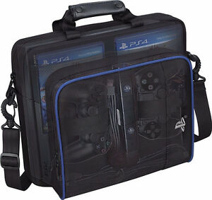 Black-Multifunctional-Travel-Carry-Case-Carrying-Bag-For-Sony-PlayStation4-PS4
