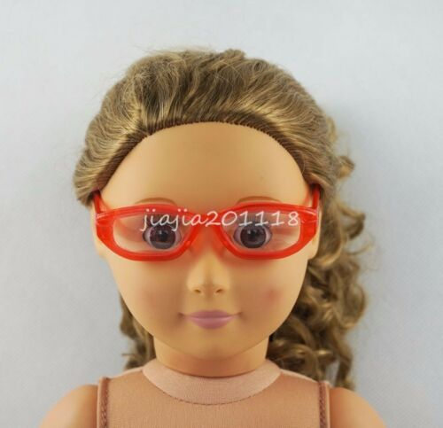 Red Glasses Sunglasses Goggles Fit For 18/'/' American Girl Dolls Girl Gifts
