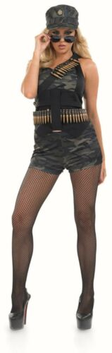 Army fancy dress costume Womens Ladies Armed Forces Military costume Outfit