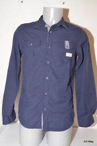 Chemise-manches-longues-Homme-KAPORAL-MICKEYE14M4-Bleu-Taille-S-M-NEUF
