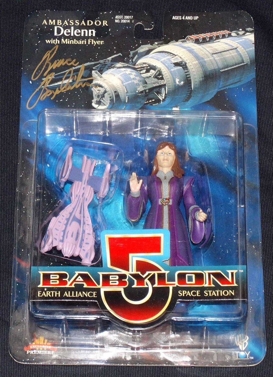 Babyion 5 botschafter g 'kar, londo, deienn unterzeichnet w   coa von bruce boxleightner moc