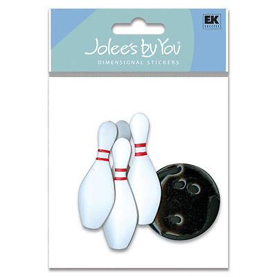 JOLEE's Scrapbooking 3D Sticker ~ BOWLING ~ KEGELN ~ VEREIN ~ SPORT
