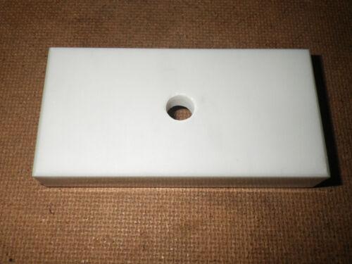 5 x 10 x 2 cm Blanc Poli marbre italien Trophy base 2 x 4 in environ 10.16 cm percé