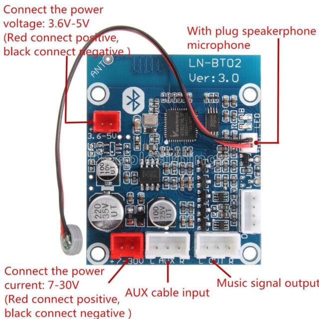 Bluetooth 4.0 Audio Receiver Board Wireless Stereo Sound Module For Phone Auto S