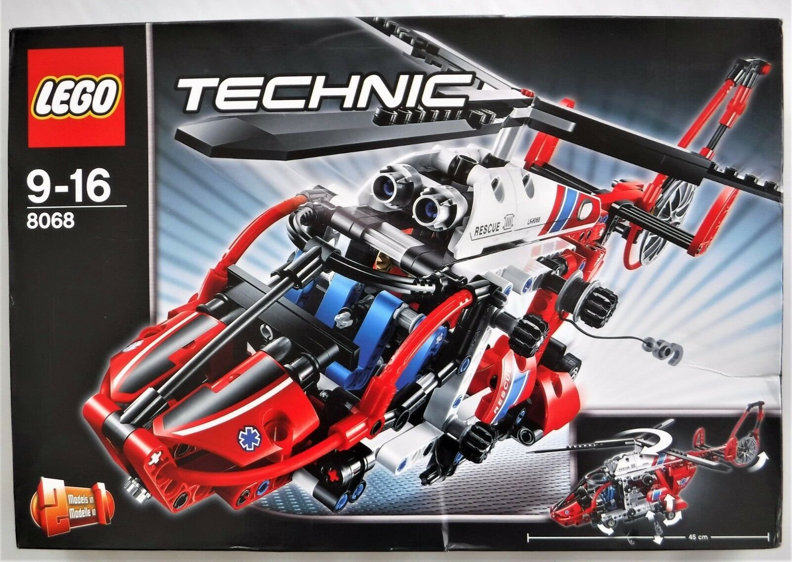 LEGO TECHNIC 8068 2-1 RESCUE   MEDICAL HELICOPTER BRAND NEW RETIRED SET