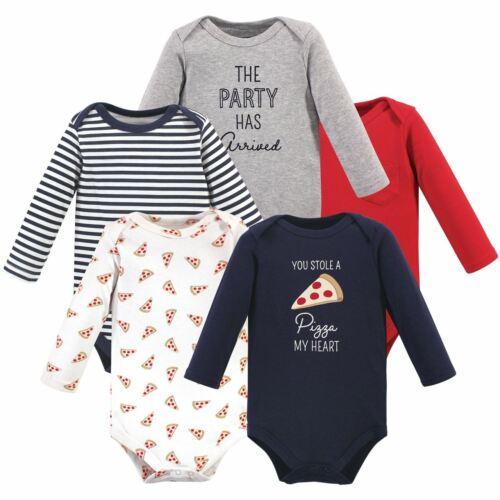 Hudson Baby Boy Long Sleeve Bodysuits 5pk Pizza