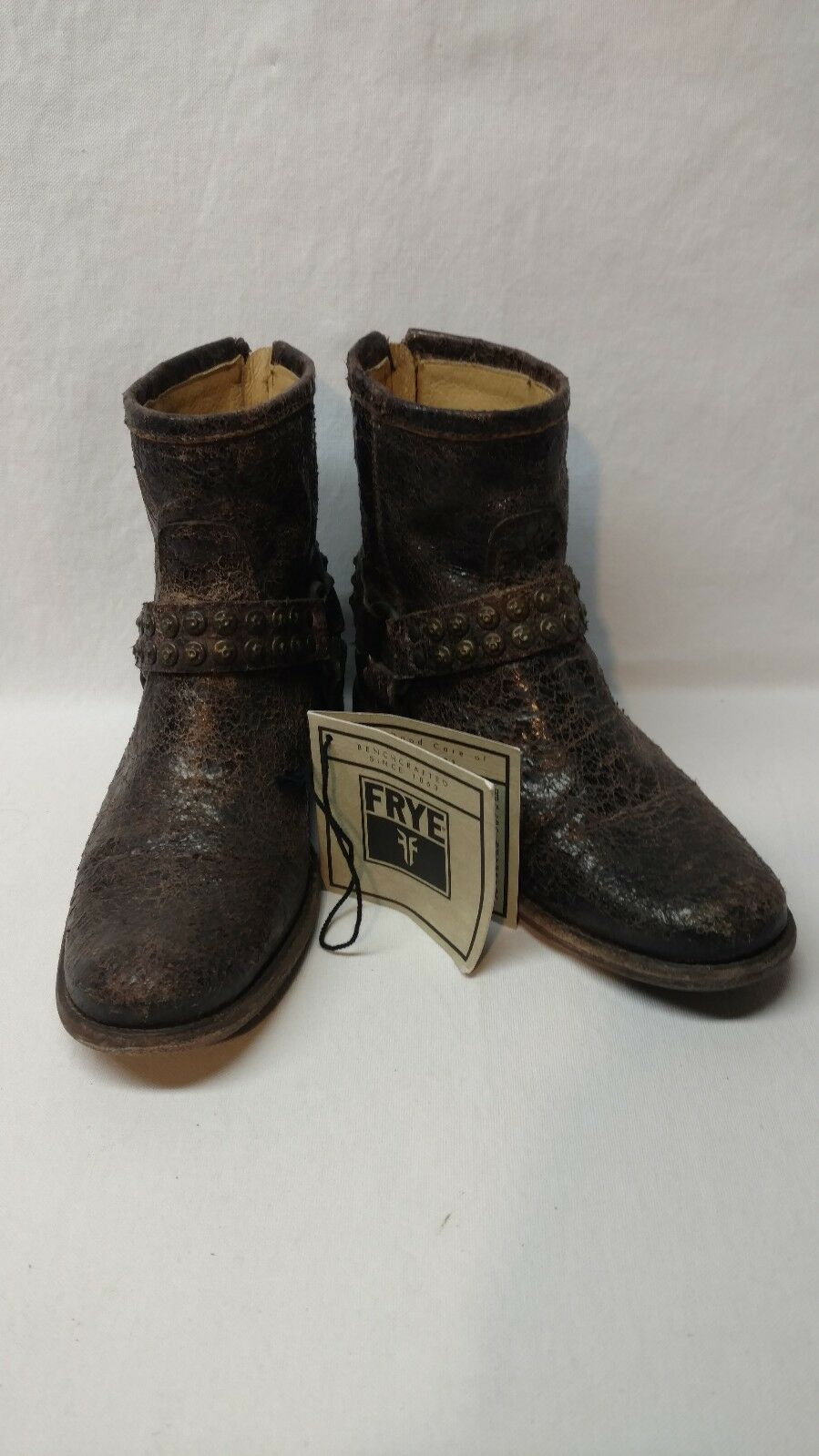 Frye Phillip brown glazed leather boots 7 B EUC