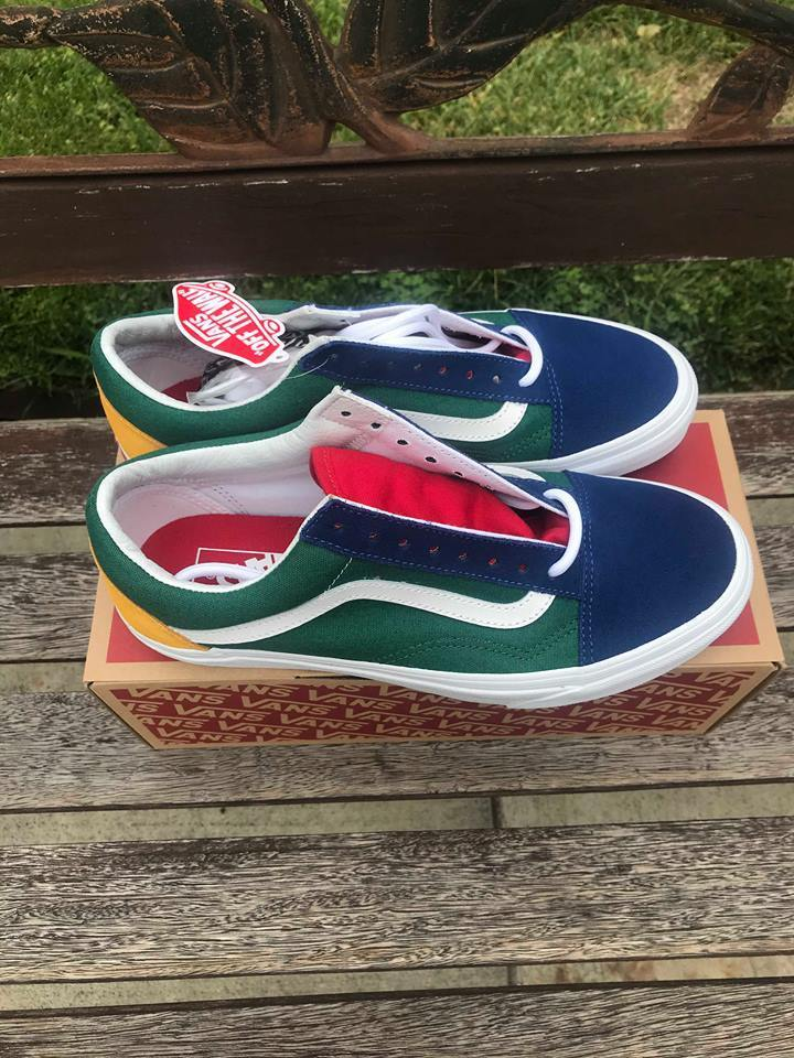 Vans Old Skool Yacht Club bluee Green Yellow Red color Block VN0A38G1R1Q