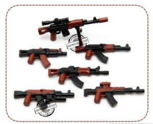 7 PCS WEAPON PACK AK-47 - Guns, Weapon, Rifles  for Lego Minifigure
