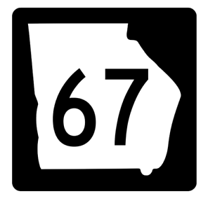 Georgia State Route 67 Sticker R3613 Highway Sign