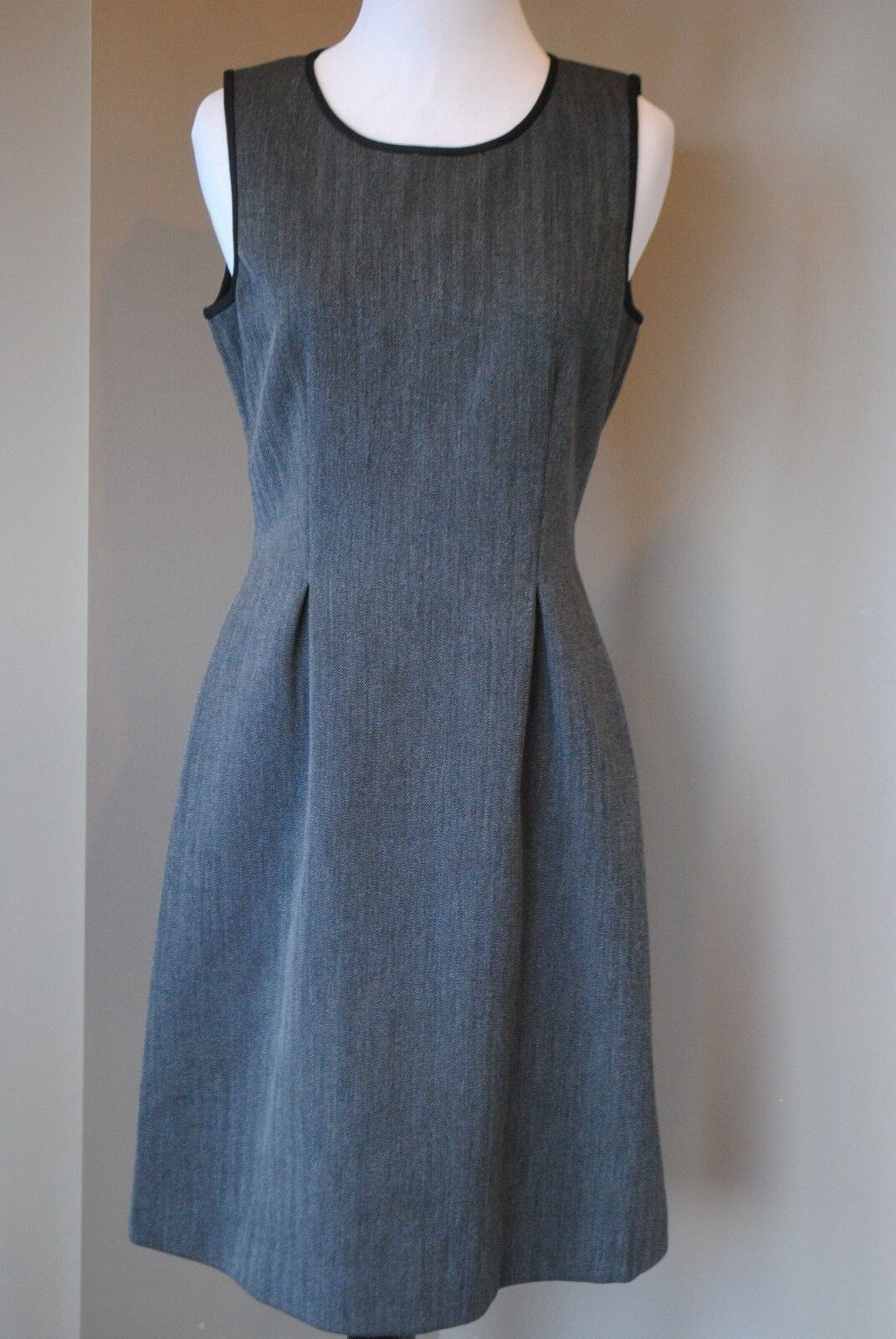 NWT NWT NWT J Crew Bonded Herringbone Dress in Charcoal Sz 6 Small B4764  168 dd25b3