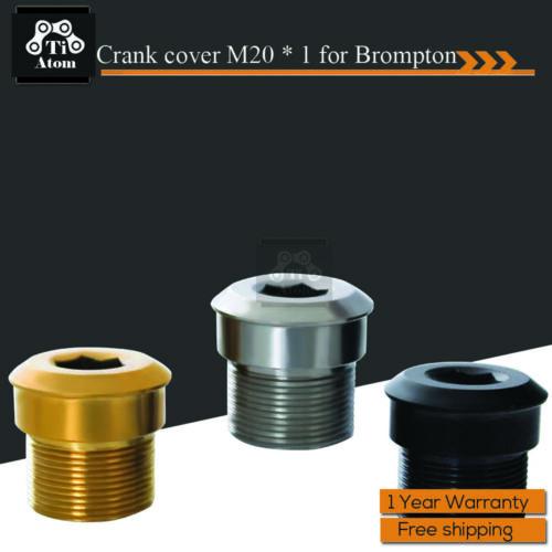 Ti Atom//Titanium Brompton folding bike crank cover M20 1