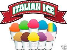 Italian Ice Concession Decal 14 Restaurant Food Truck Cart Vinyl Menu Sticker