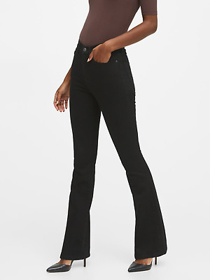 Details about  /BANANA REPUBLIC 526911 BLACK HIGH RISE FLARE JEANS  $98.00 NWT 25 0 PETITE