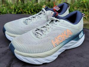 HOKA ONE ONE Bondi 7 Women's Cushioned Running Shoes Size 9 D Wide 1110531 LRBI