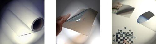 Eisenfolie Ferrofolie weiß matt 0,6mm x 100cm x 1m