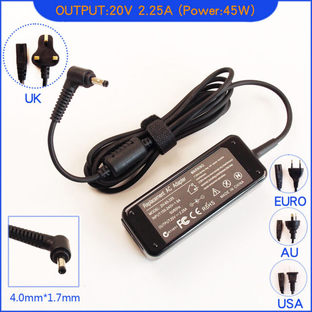 New 45W 20V 2.25A AC Adapter Charger Power For Lenovo Ideapad 100-15-80MJ0018US