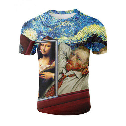 3D Print Art Oil Painting Van Gogh Women Men Casual T-Shirt Short Sleeve Tee Top