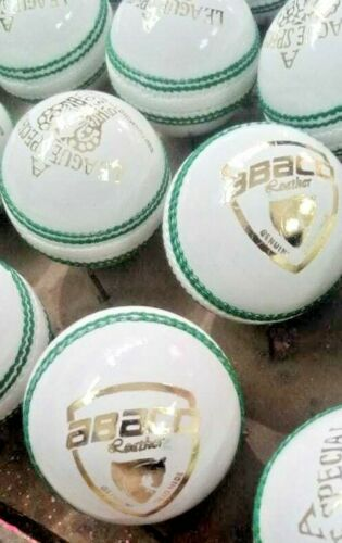 5 white League Special solid hide cow leather cricket hard balls